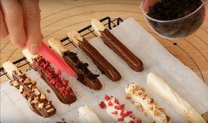 新手也能做的巧克力棒的做法 步骤11